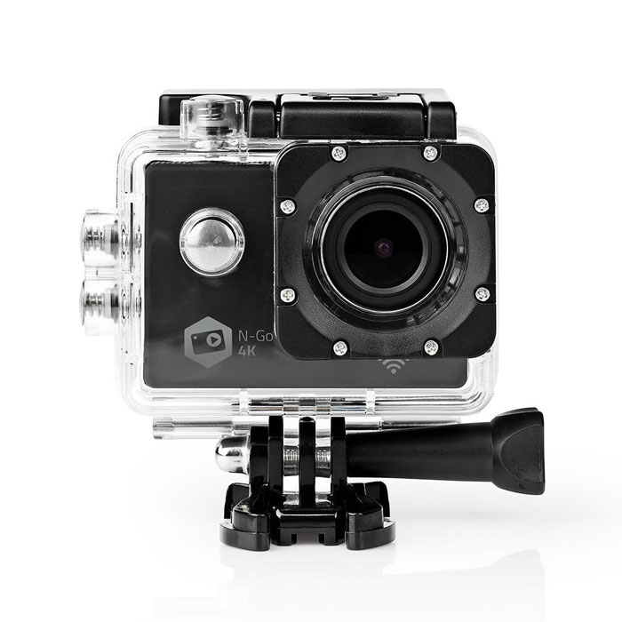NEDIS ACAM41BK Action Cam Ultra HD 4K Wi-Fi Waterproof Case (Action κάμερα Ultra HD 4K Wi-Fi, με οθόν...)