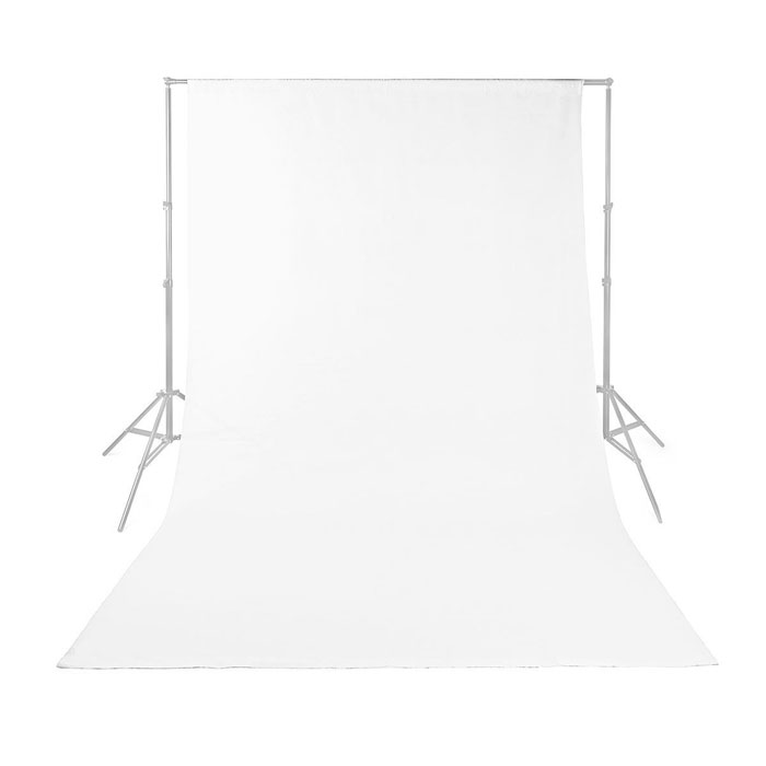 NEDIS BDRP33WT Photo Studio Backdrop 2.95 x 2.95 m White (Υφασμάτινο background φωτογράφισης 295 x...)
