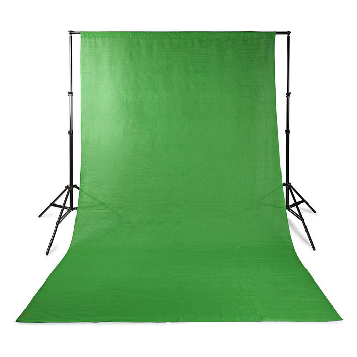 NEDIS BDRP33GN Photo Studio Backdrop 2.95 x 2.95 m Green (Υφασμάτινο background φωτογράφισης 295 x...)