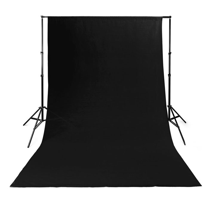 NEDIS BDRP33BK Photo Studio Backdrop 2.95 x 2.95 m Black (Υφασμάτινο background φωτογράφισης 295 x...)
