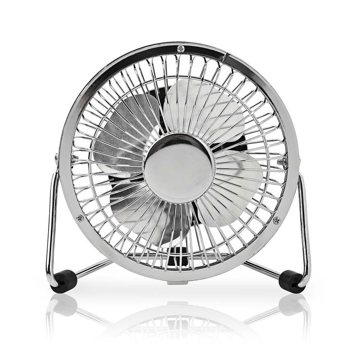 NEDIS FNDK1CR10 Metal Mini Fan 10 cm Diameter USB powered Chrome (Μεταλλικός mini ανεμιστήρας με σύνδεση U...)