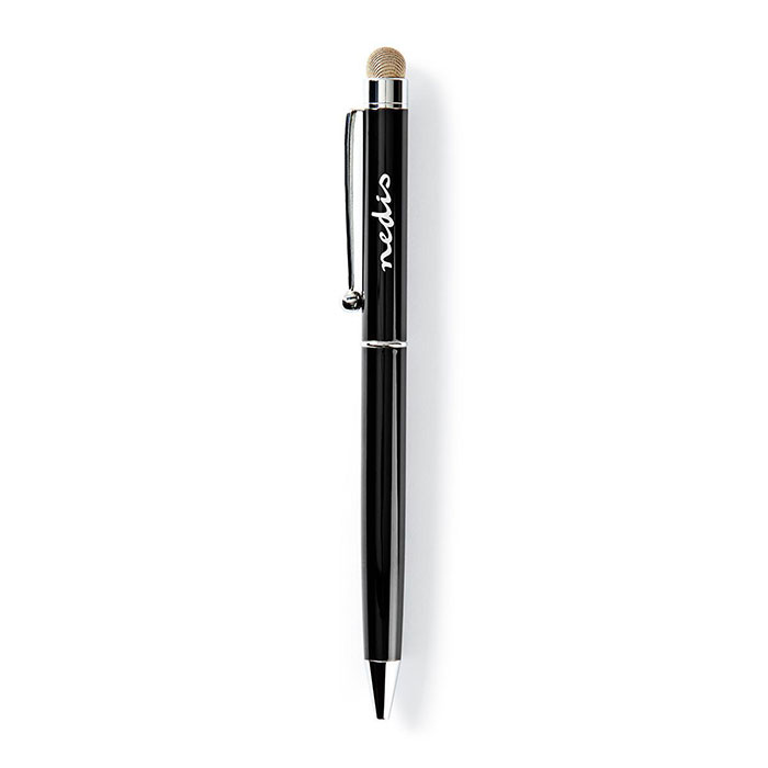NEDIS STYLB201BK Stylus Ballpoint with Copper Cloth Tip Metal Black (Γραφίδα στυλό με κλιπ, για tablet και sm...)