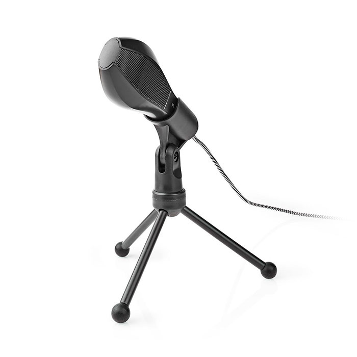 NEDIS MICTU100BK Wired Microphone Dual Condenser With Tripod USB (Ενσύρματο μικρόφωνο με τρίποδα και καλώδ...)