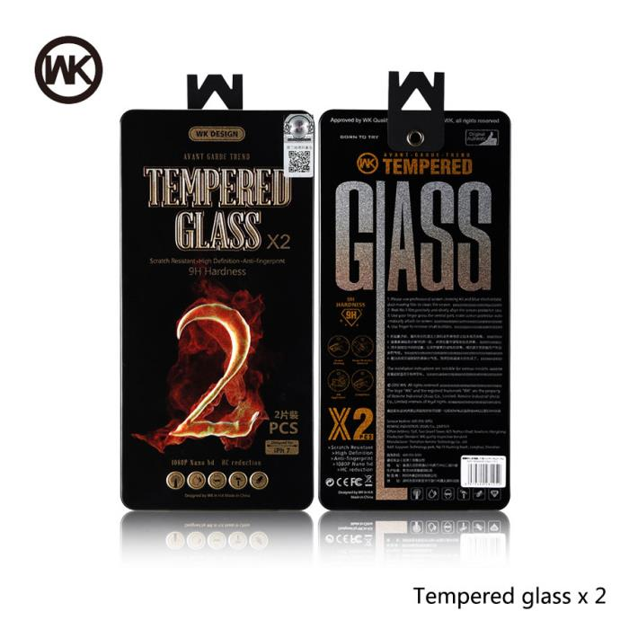 Tempered Glass WK (2pcs set) for iPhone 7 plus