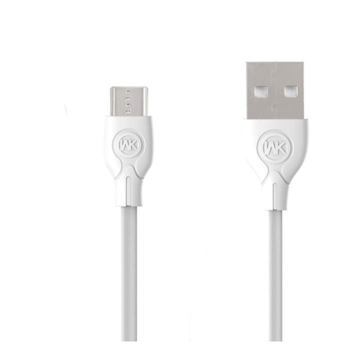 Charging Cable WK Micro White 1m Ultra speed Pro WDC-041