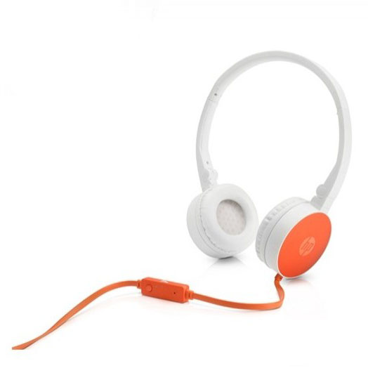 HP H2800 Orange On-Ear Stereo Headphones F6J05AA (κλήσεις & μουσική με Remote + Volume Control)