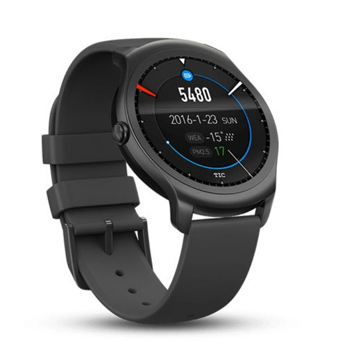 Ticwatch 2 Active Android Smartwatch Black (Συμβατό με Android & iOS συσκευές) (Προϊόν Demo με 3 μήνες εγγύηση)